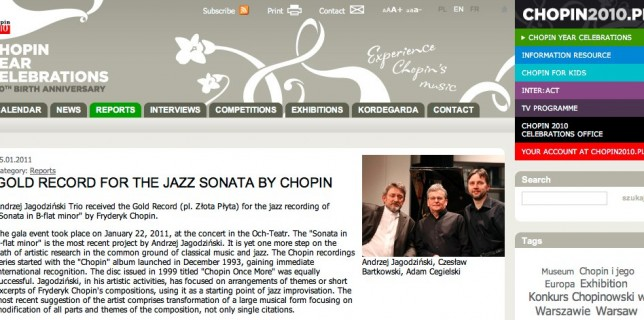 Gold Record for the Sonata B minor - webclip