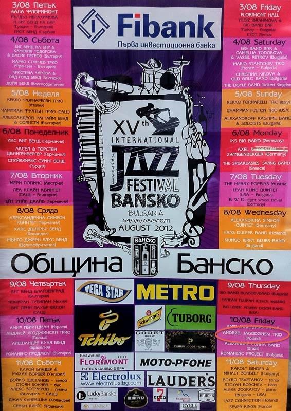 Bansko Jazz Festival - afisz